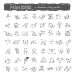 Farm icons. Vector format