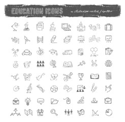 Education icons. Vector format