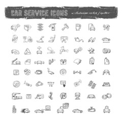 Car service icons. Vector format