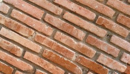 parede de ladrillos alineados