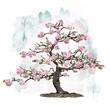 Quadro Pink Blossoming Tree