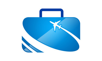 travel bag logo and icon
