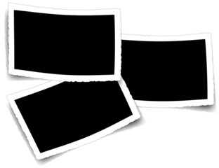 fond noir pour trois photos courbes anciennes