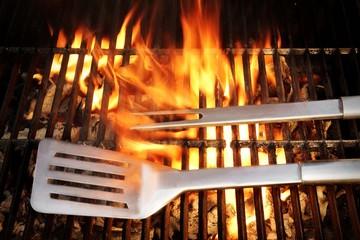 BBQ Tool Fire Flames Grill Spatula Fork, XXXL