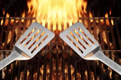 BBQ Tool Fire Flames Grill Spatula, XXXL