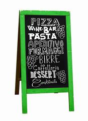 Ardoise restaurant italien
