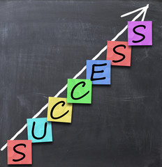 succes arrow or business growth