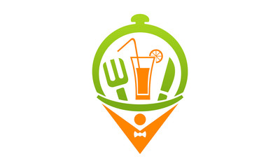 food and drink location logo