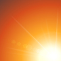 zachód słońca tło wektor