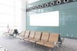 modern airport terminal waiting room - 65535818