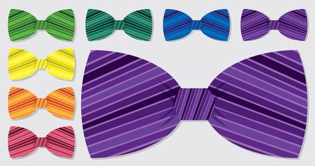 Bow tie set in vector format.