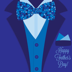 Father's Day bow tie tuxedo card in vector format.