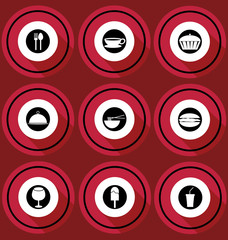 Food Icons in Flat Design