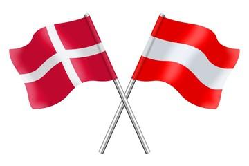 Flags : Denmark and Austria