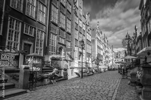 Fototapeta Architecture of Mariacka street in Gdansk, Poland