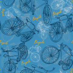 Bicycle seamless pattern background vector ,illustration