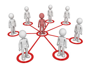 Partner network. 3d image isolated on white background