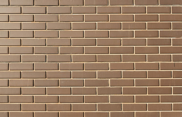 Modern brick wall in a bright sunny day as background