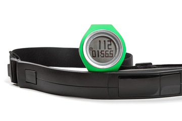 sport heart rate monitor, watch and chest strap
