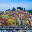 Menton , France. View to the sea and waterfront of Menton