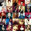 Hipster people concept. Collage of fashion men and women