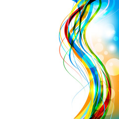 Color of Curve abstract background