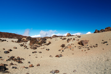 Lunar landscape, Tenerife, Canary Islands, Spain