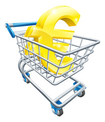 Euro currency shopping cart