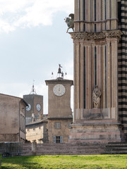 Orvieto Cathedral and Maurizio Tower