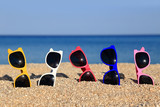 Collection of Sunglasses on the beach - Fine Art prints