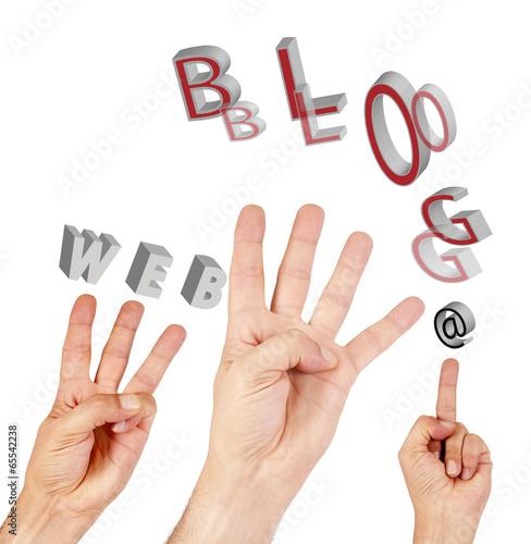 hand symbol Internet