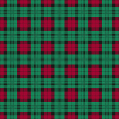 Seamless checkered texture green and red