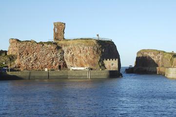 old Dunbar castle and harbour entrance