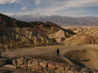 Lone photographer in the Desert