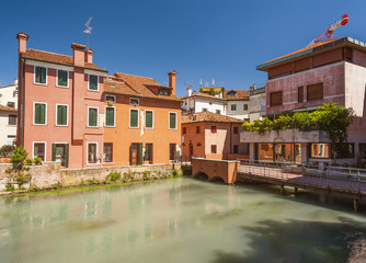 colourful buildings treviso italy
