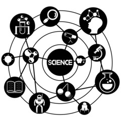 science and knowledge, connecting network diagram
