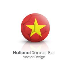 Soccer ball of Vietnam over white background