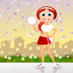 cute happy cheerleader