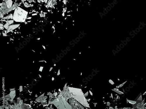 Destruction Shattered or demolished glass