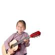 Smiling Music Boy, isolated