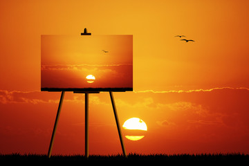 Canvas at sunset