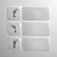 glass modern icons set of pronation of the foot