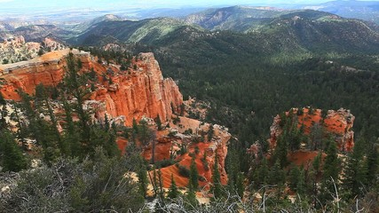 A long view of beautiful Bryce Canyon National Park, Utah