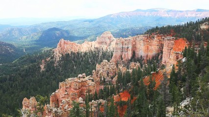 A long view of Bryce Canyon National Park, Utah