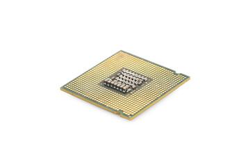 Macro of a computer's processor detail.