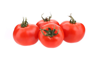 Close up of fresh tomatoes.