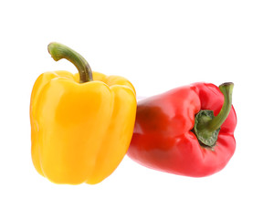 Sweet yellow and red peppers.