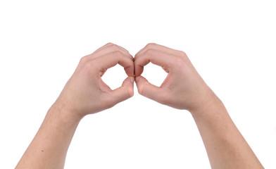 MAle hands in form of binocular.