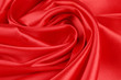 Red silk drapery.
