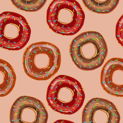 Donut seamless pattern